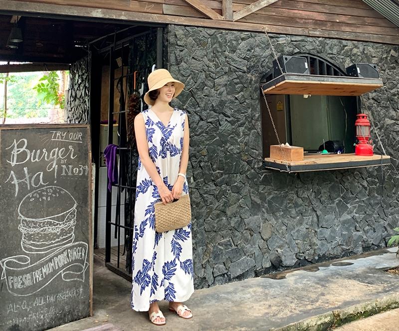 韓国 ファッション ワンピース 夏 春 カジュアル PTXI724  ゆったり Aライン マキシ丈 リゾートドレス オルチャン シンプル 定番 セレカジの写真20枚目