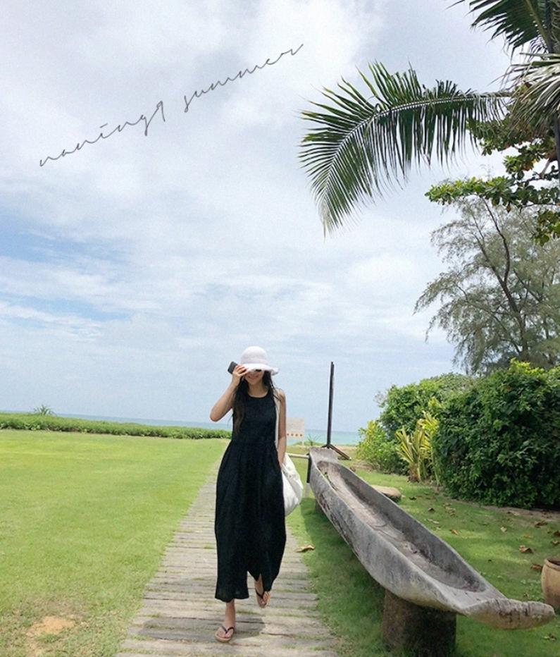 韓国 ファッション オールインワン オーバーオール 春 夏 カジュアル PTXI752  リネン風 ナチュラルテイスト ワイド ギャザー オルチャン シンプル 定番 セレカジの写真12枚目