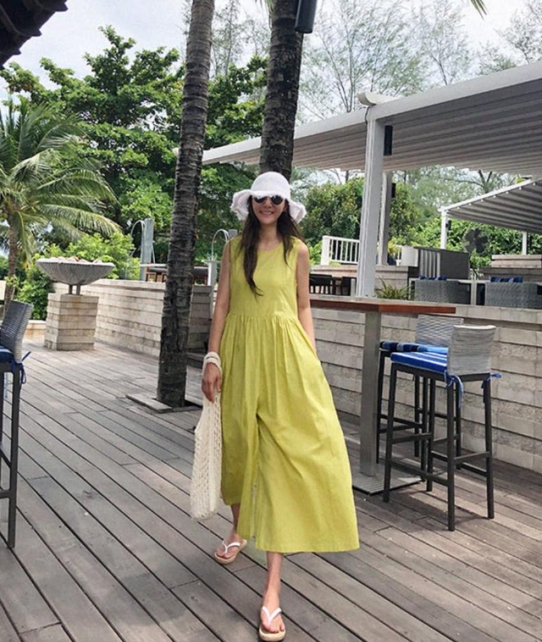 韓国 ファッション オールインワン オーバーオール 春 夏 カジュアル PTXI752  リネン風 ナチュラルテイスト ワイド ギャザー オルチャン シンプル 定番 セレカジの写真16枚目