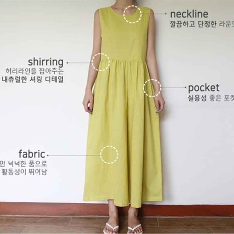 韓国 ファッション オールインワン オーバーオール 春 夏 カジュアル PTXI752  リネン風 ナチュラルテイスト ワイド ギャザー オルチャン シンプル 定番 セレカジの写真17枚目
