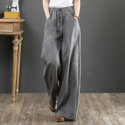 韓国 ファッション パンツ ボトムス 春 夏 秋 カジュアル PTXI780  ゆったり ワイド リネン風 ナチュラルテイスト オルチャン シンプル 定番 セレカジの写真3枚目