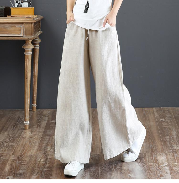 韓国 ファッション パンツ ボトムス 春 夏 秋 カジュアル PTXI780  ゆったり ワイド リネン風 ナチュラルテイスト オルチャン シンプル 定番 セレカジの写真7枚目