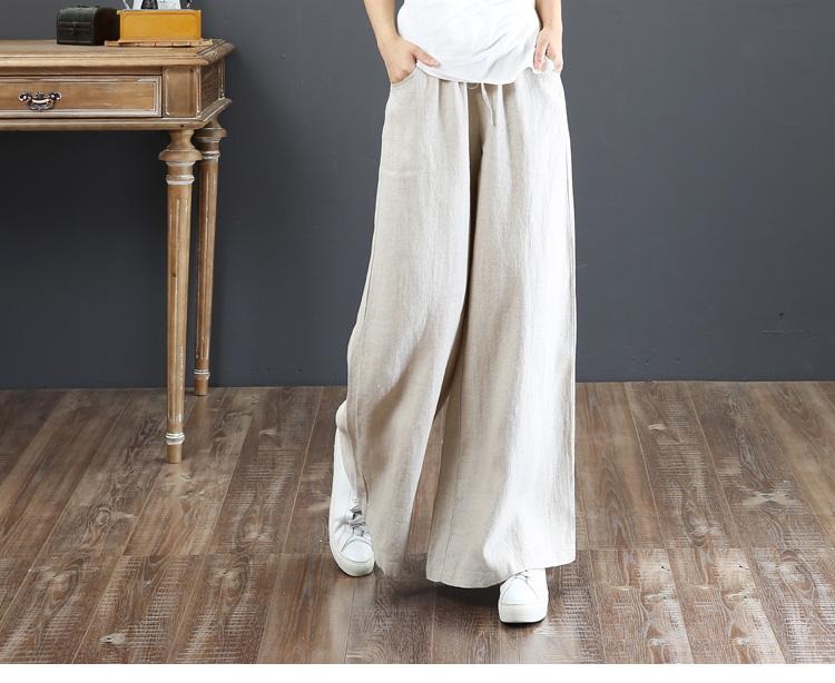 韓国 ファッション パンツ ボトムス 春 夏 秋 カジュアル PTXI780  ゆったり ワイド リネン風 ナチュラルテイスト オルチャン シンプル 定番 セレカジの写真8枚目