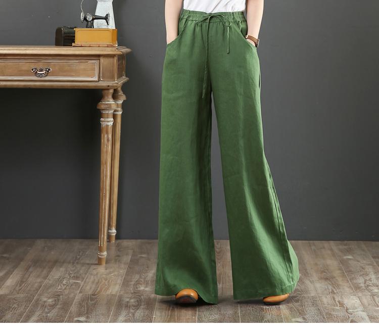 韓国 ファッション パンツ ボトムス 春 夏 秋 カジュアル PTXI780  ゆったり ワイド リネン風 ナチュラルテイスト オルチャン シンプル 定番 セレカジの写真16枚目