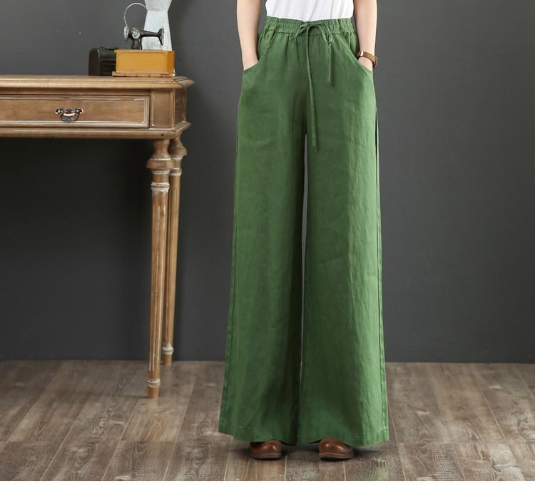 韓国 ファッション パンツ ボトムス 春 夏 秋 カジュアル PTXI780  ゆったり ワイド リネン風 ナチュラルテイスト オルチャン シンプル 定番 セレカジの写真18枚目