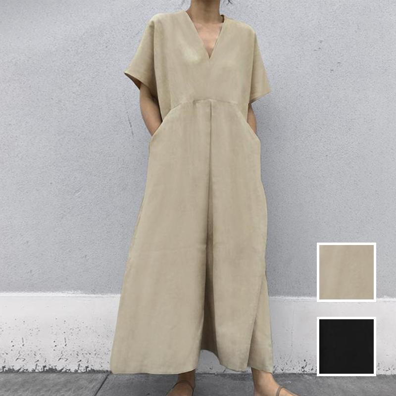 韓国 ファッション オールインワン オーバーオール 春 夏 カジュアル PTXI802  リネン風 ゆったり こなれ感 ウエストマーク オルチャン シンプル 定番 セレカジの写真1枚目