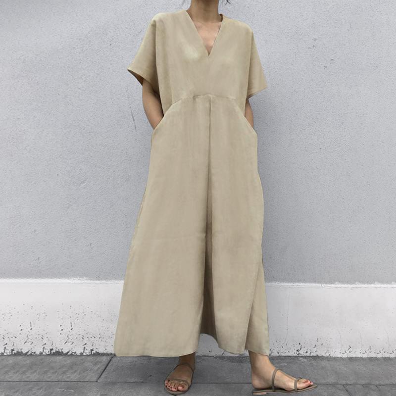 韓国 ファッション オールインワン オーバーオール 春 夏 カジュアル PTXI802  リネン風 ゆったり こなれ感 ウエストマーク オルチャン シンプル 定番 セレカジの写真2枚目