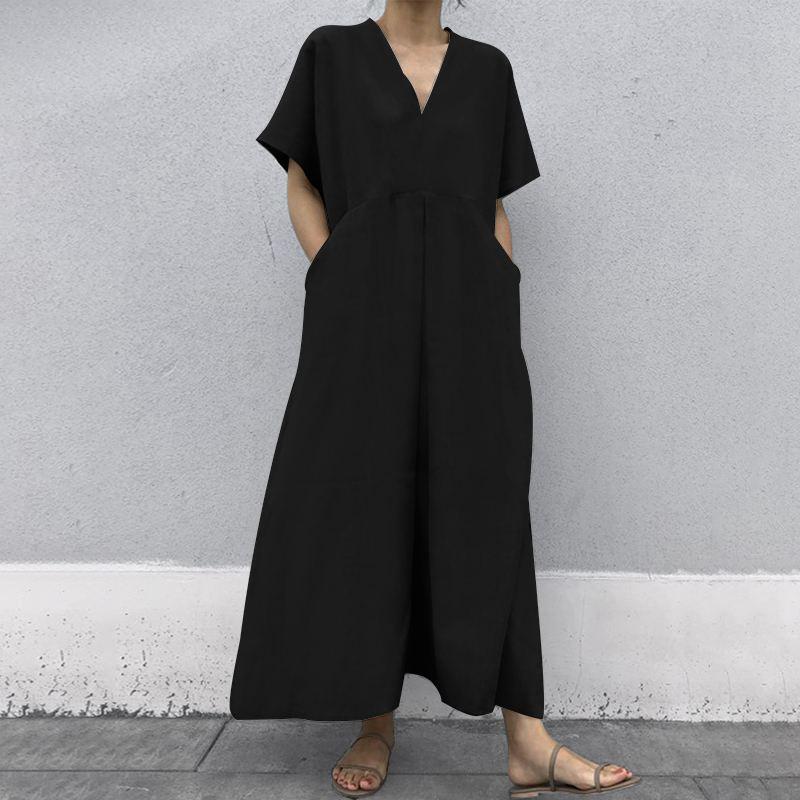 韓国 ファッション オールインワン オーバーオール 春 夏 カジュアル PTXI802  リネン風 ゆったり こなれ感 ウエストマーク オルチャン シンプル 定番 セレカジの写真3枚目