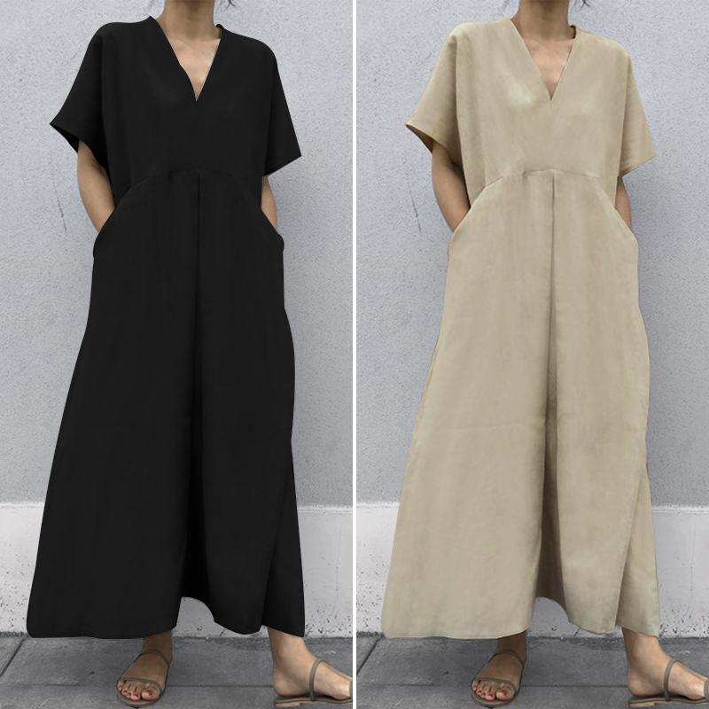 韓国 ファッション オールインワン オーバーオール 春 夏 カジュアル PTXI802  リネン風 ゆったり こなれ感 ウエストマーク オルチャン シンプル 定番 セレカジの写真4枚目