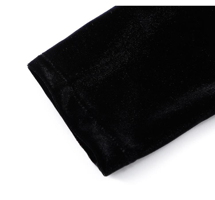 韓国 ファッション ワンピース パーティードレス ショート ミニ丈 春 秋 冬 パーティー ブライダル PTXI842 結婚式 お呼ばれ バックリボン ハイネック フレア A 二次会 セレブ きれいめの写真18枚目