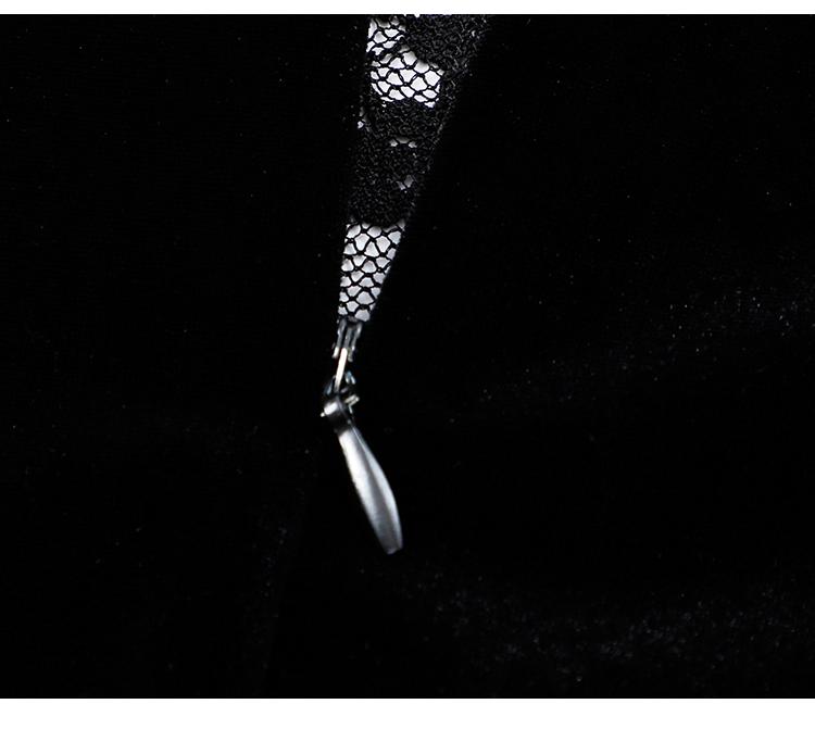 韓国 ファッション ワンピース パーティードレス ショート ミニ丈 春 秋 冬 パーティー ブライダル PTXI842 結婚式 お呼ばれ バックリボン ハイネック フレア A 二次会 セレブ きれいめの写真19枚目