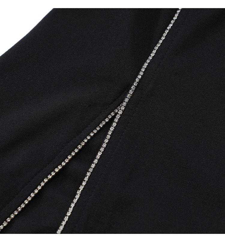 韓国 ファッション ワンピース パーティードレス ショート ミニ丈 春 秋 冬 パーティー ブライダル PTXI846 結婚式 お呼ばれ アシンメトリー シースルー ショーパ 二次会 セレブ きれいめの写真15枚目
