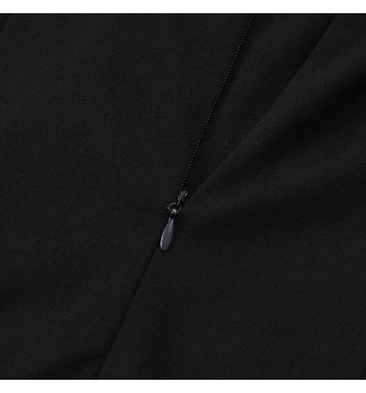 韓国 ファッション ワンピース パーティードレス ショート ミニ丈 春 秋 冬 パーティー ブライダル PTXI846 結婚式 お呼ばれ アシンメトリー シースルー ショーパ 二次会 セレブ きれいめの写真16枚目