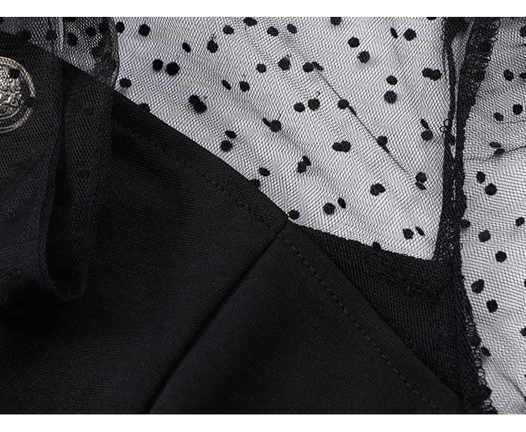 韓国 ファッション ワンピース パーティードレス ショート ミニ丈 春 秋 冬 パーティー ブライダル PTXI858 結婚式 お呼ばれ シースルー ボウタイ アシンメトリー 二次会 セレブ きれいめの写真16枚目
