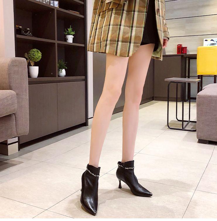 韓国 ファッション ショートブーツ ブーティ 春 夏 秋 冬 カジュアル PTXJ130  ブーティー アンクレット風 ビジュー セクシー オルチャン シンプル 定番 セレカジの写真8枚目