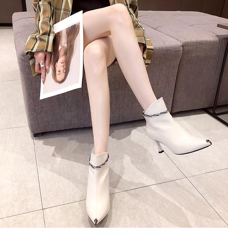 韓国 ファッション ショートブーツ ブーティ 春 夏 秋 冬 カジュアル PTXJ130  ブーティー アンクレット風 ビジュー セクシー オルチャン シンプル 定番 セレカジの写真12枚目
