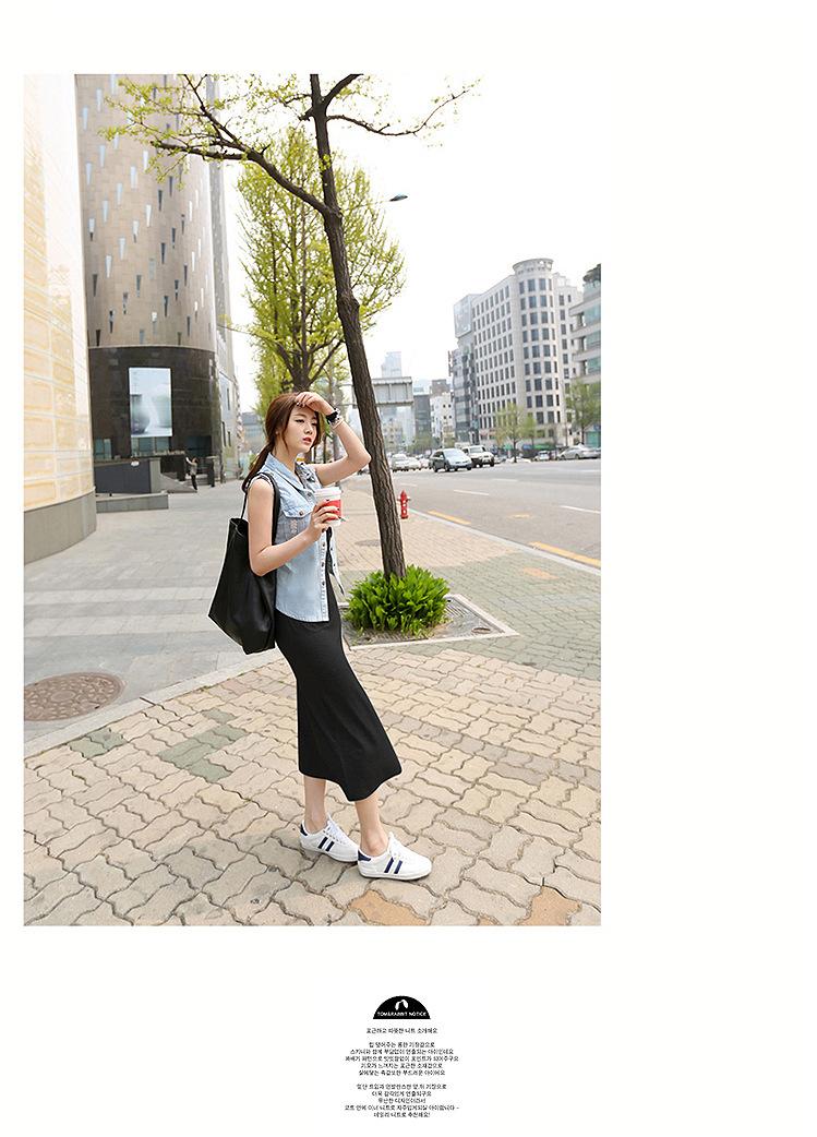 韓国 ファッション ワンピース 春 夏 秋 カジュアル PTXJ141  Uネック ノースリーブ インナー レイヤード オルチャン シンプル 定番 セレカジの写真12枚目
