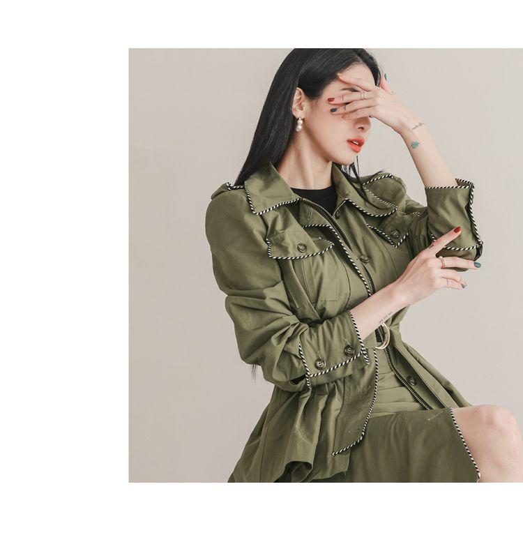 韓国 ファッション セットアップ 春 秋 冬 カジュアル PTXJ168  ミリタリー アシンメトリー シャツジャケット オルチャン シンプル 定番 セレカジの写真15枚目