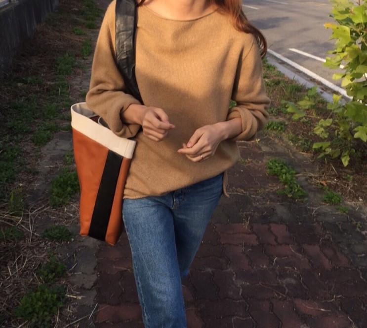 韓国 ファッション トップス ニット セーター 春 秋 冬 カジュアル PTXJ197  リブニット 切りっぱなし ナチュラルテイスト オルチャン シンプル 定番 セレカジの写真8枚目