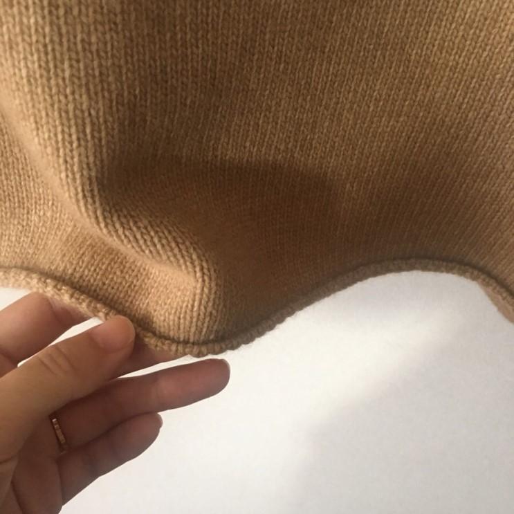 韓国 ファッション トップス ニット セーター 春 秋 冬 カジュアル PTXJ197  リブニット 切りっぱなし ナチュラルテイスト オルチャン シンプル 定番 セレカジの写真12枚目