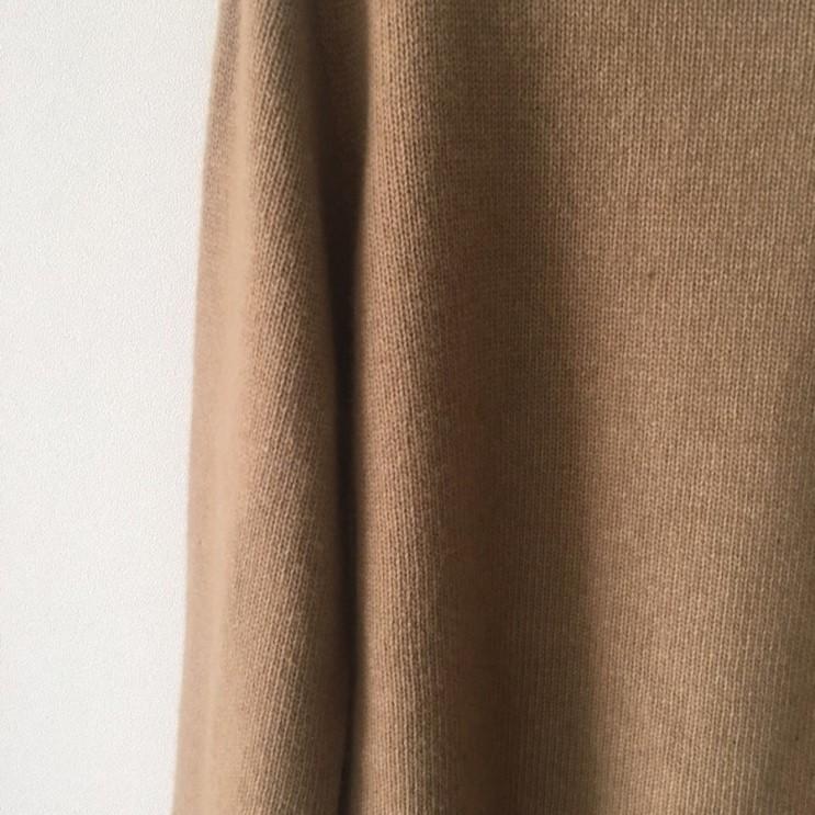 韓国 ファッション トップス ニット セーター 春 秋 冬 カジュアル PTXJ197  リブニット 切りっぱなし ナチュラルテイスト オルチャン シンプル 定番 セレカジの写真13枚目