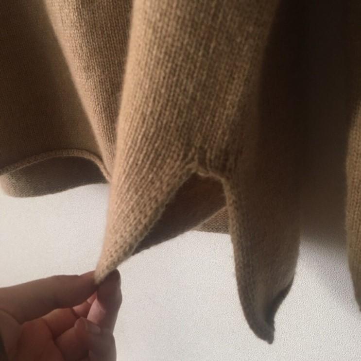 韓国 ファッション トップス ニット セーター 春 秋 冬 カジュアル PTXJ197  リブニット 切りっぱなし ナチュラルテイスト オルチャン シンプル 定番 セレカジの写真15枚目