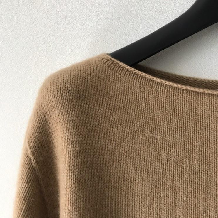 韓国 ファッション トップス ニット セーター 春 秋 冬 カジュアル PTXJ197  リブニット 切りっぱなし ナチュラルテイスト オルチャン シンプル 定番 セレカジの写真16枚目