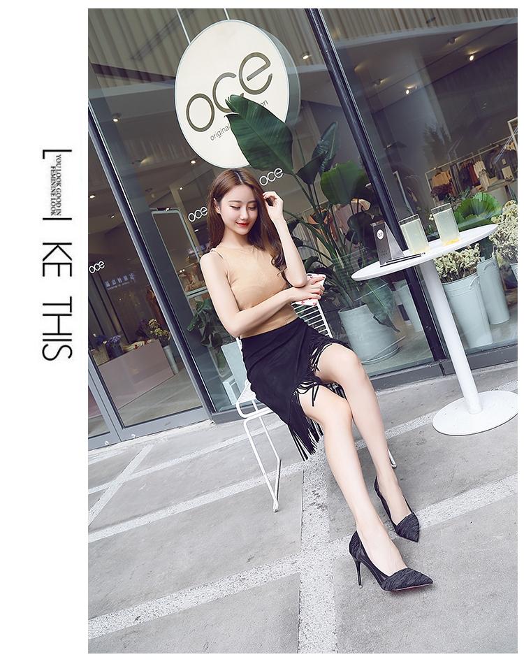 韓国 ファッション パンプス 春 夏 秋 冬 パーティー ブライダル PTXJ281  セパレートパンプス風 シースルー ハイヒール 二次会 セレブ きれいめの写真10枚目
