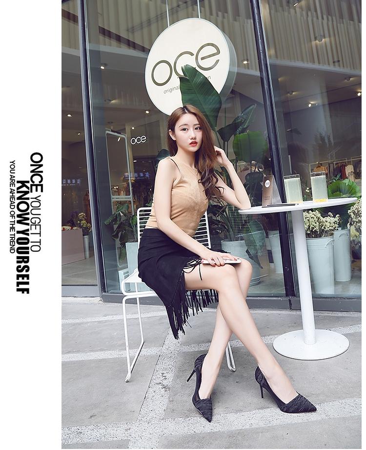 韓国 ファッション パンプス 春 夏 秋 冬 パーティー ブライダル PTXJ281  セパレートパンプス風 シースルー ハイヒール 二次会 セレブ きれいめの写真14枚目