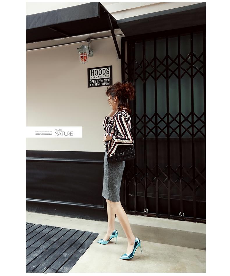 韓国 ファッション パンプス 春 夏 秋 冬 パーティー ブライダル PTXJ283  メタリック オルセーパンプス ゴージャス 二次会 セレブ きれいめの写真13枚目
