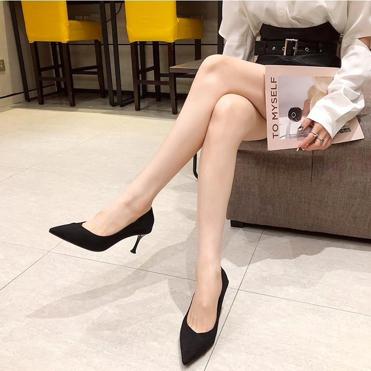 韓国 ファッション パンプス 春 夏 秋 冬 パーティー ブライダル PTXJ304  クロスデザイン 甲見せ ミドルヒール プレーン 二次会 セレブ きれいめの写真13枚目