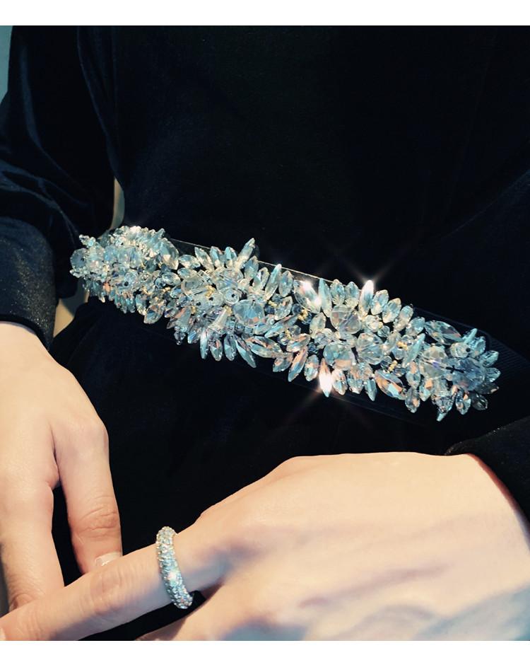韓国 ファッション ワンピース パーティードレス ロング マキシ 春 秋 冬 パーティー ブライダル PTXJ359 結婚式 お呼ばれ ベルベット風 スカラップ デコルテ見せ 二次会 セレブ きれいめの写真7枚目