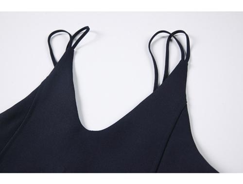 韓国 ファッション ワンピース 春 夏 秋 カジュアル PTXJ466  シンプル 着回し ジャンスカ スリップドレス風 オルチャン シンプル 定番 セレカジの写真18枚目