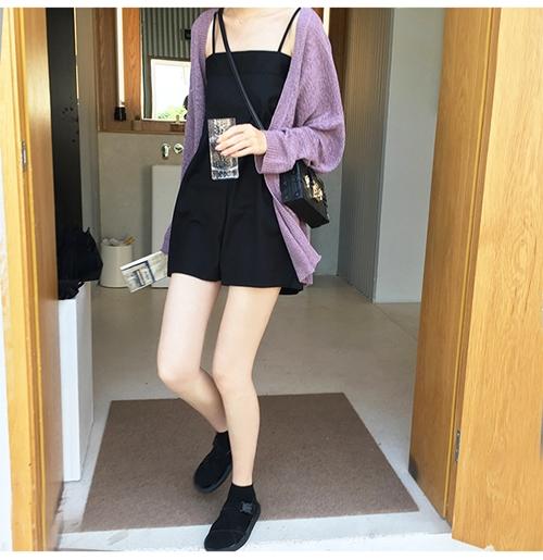 韓国 ファッション トップス カーディガン 春 夏 秋 カジュアル PTXJ482  サマーニット オーバーサイズ ガウン 羽織り オルチャン シンプル 定番 セレカジの写真14枚目