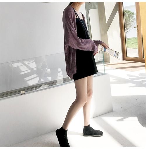 韓国 ファッション トップス カーディガン 春 夏 秋 カジュアル PTXJ482  サマーニット オーバーサイズ ガウン 羽織り オルチャン シンプル 定番 セレカジの写真15枚目