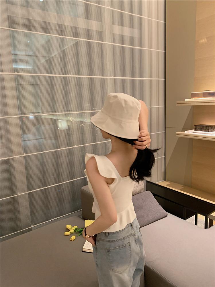 韓国 ファッション トップス ニット セーター 春 夏 カジュアル PTXJ502  フリル ワンショルダー リブニット ペプラム オルチャン シンプル 定番 セレカジの写真11枚目