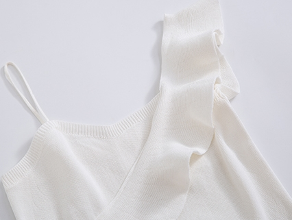 韓国 ファッション トップス ニット セーター 春 夏 カジュアル PTXJ502  フリル ワンショルダー リブニット ペプラム オルチャン シンプル 定番 セレカジの写真19枚目