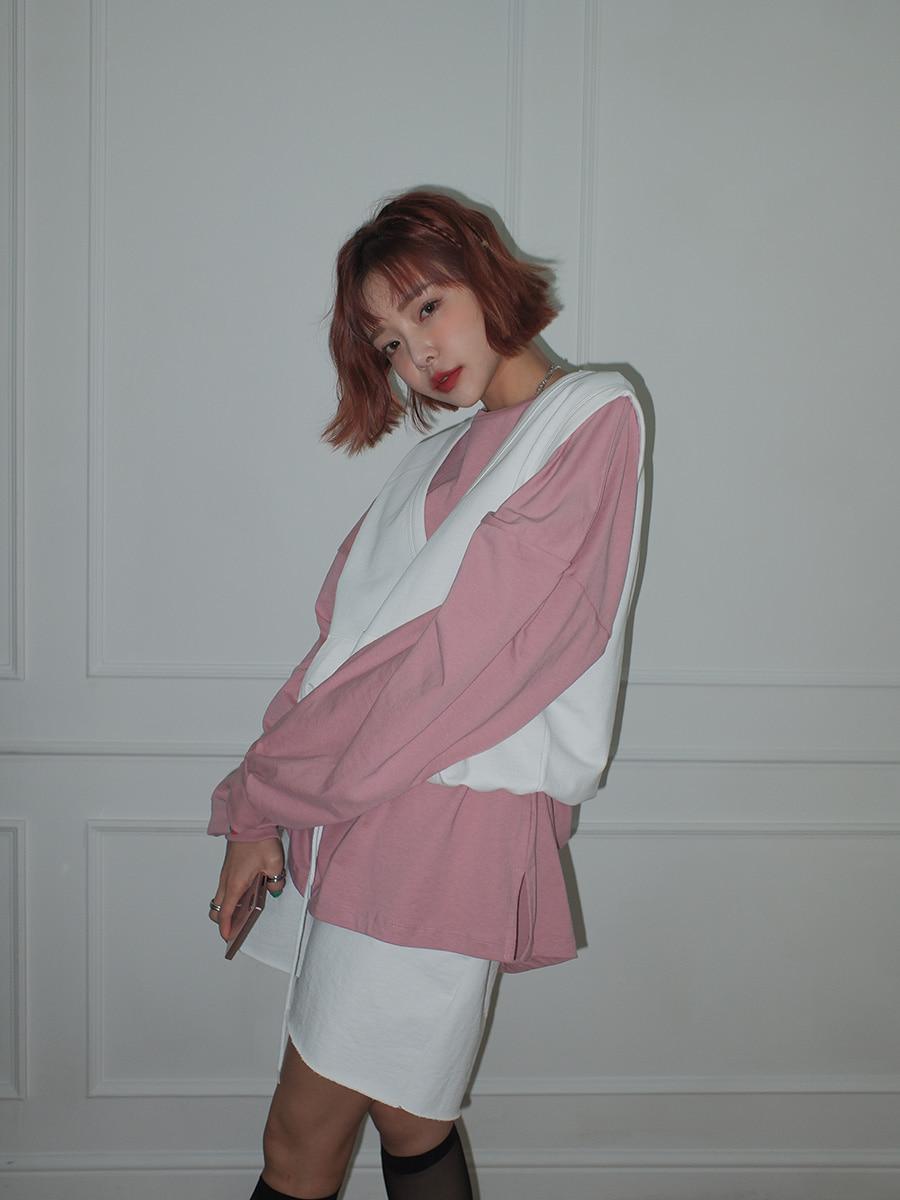韓国 ファッション セットアップ 春 夏 秋 カジュアル PTXJ567  オーバーサイズ ベスト ショートパンツ オルチャン シンプル 定番 セレカジの写真12枚目