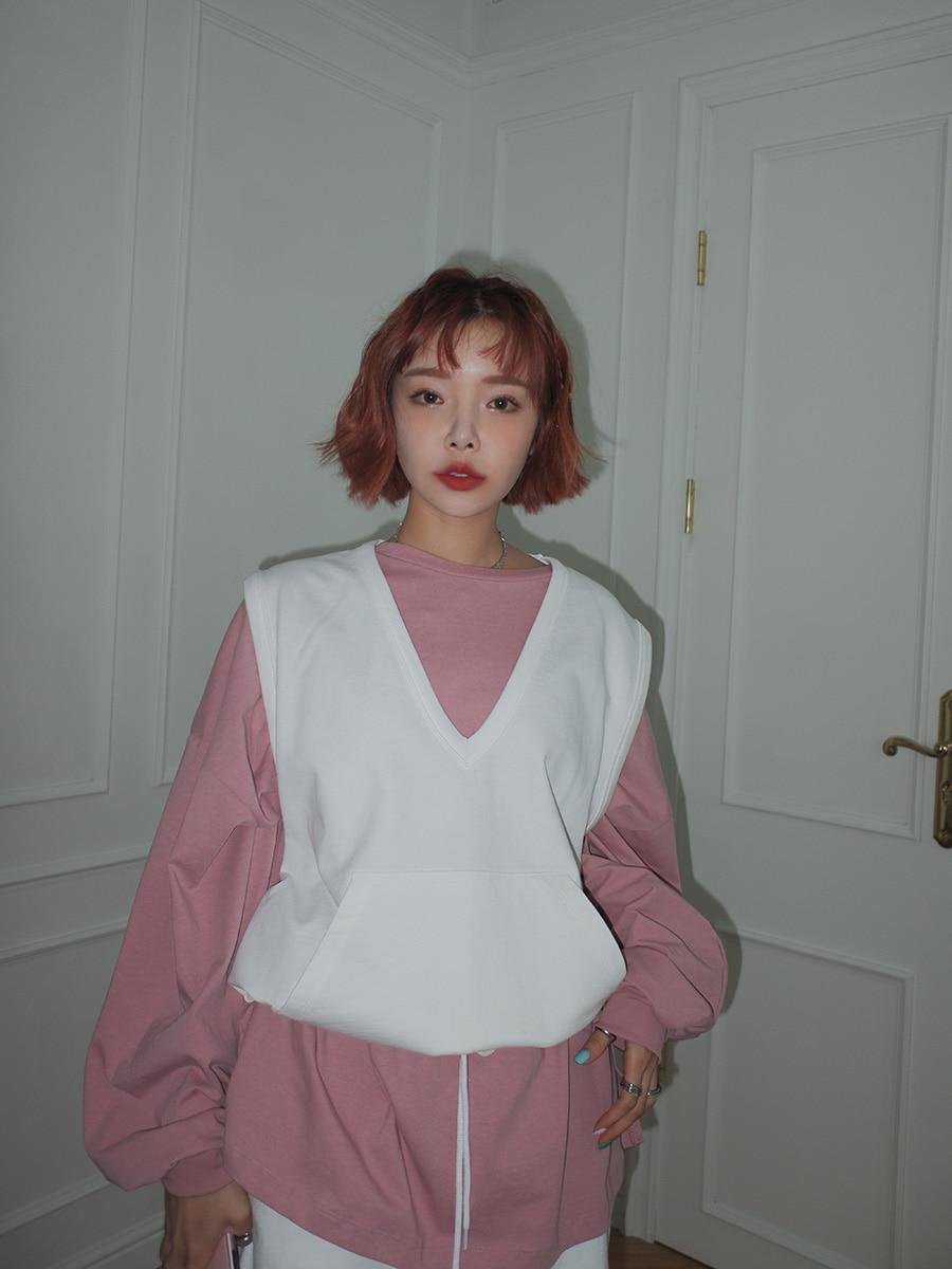 韓国 ファッション セットアップ 春 夏 秋 カジュアル PTXJ567  オーバーサイズ ベスト ショートパンツ オルチャン シンプル 定番 セレカジの写真14枚目