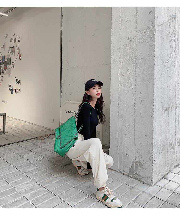 韓国 ファッション パンツ ボトムス 春 夏 カジュアル PTXJ586  ワイド 裾リブ ゆったり スウェット 着回し オルチャン シンプル 定番 セレカジの写真9枚目
