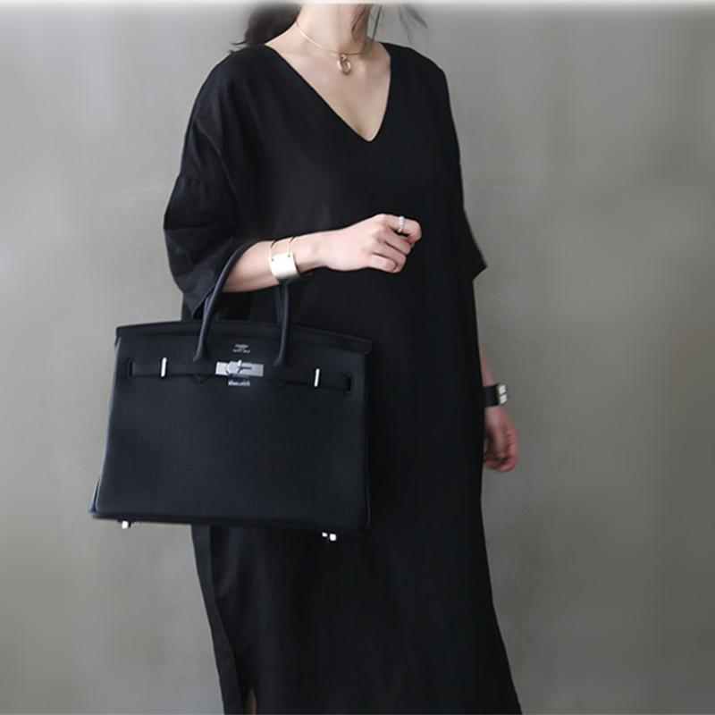 韓国 ファッション ワンピース 春 夏 カジュアル PTXJ607  リネン風 オーバーサイズ レイヤード ゆったり オルチャン シンプル 定番 セレカジの写真11枚目