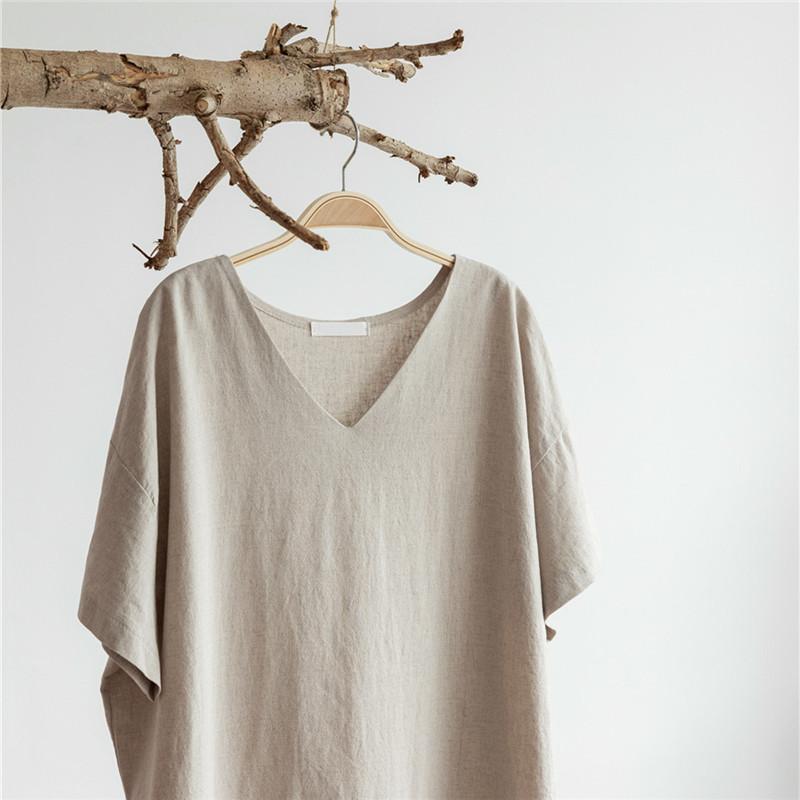 韓国 ファッション ワンピース 春 夏 カジュアル PTXJ607  リネン風 オーバーサイズ レイヤード ゆったり オルチャン シンプル 定番 セレカジの写真12枚目