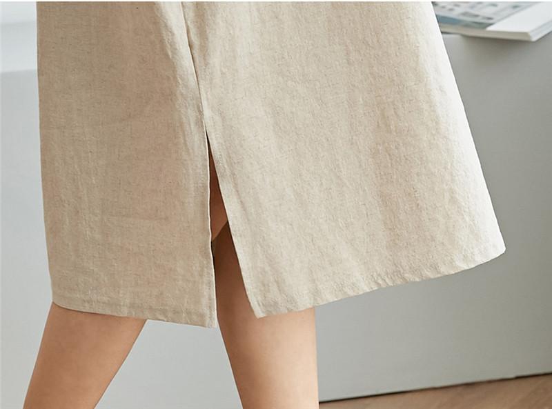 韓国 ファッション ワンピース 春 夏 カジュアル PTXJ607  リネン風 オーバーサイズ レイヤード ゆったり オルチャン シンプル 定番 セレカジの写真20枚目