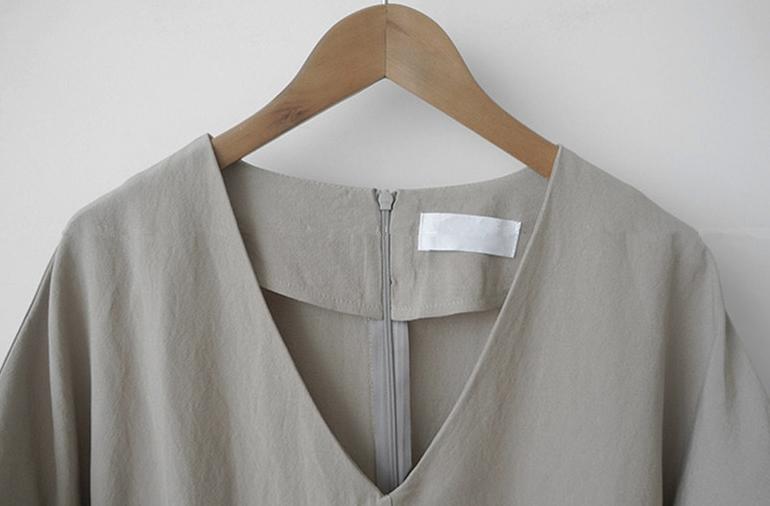 韓国 ファッション ワンピース 春 夏 カジュアル PTXJ608  ゆったり ナチュラルテイスト イレギュラーヘム オルチャン シンプル 定番 セレカジの写真16枚目