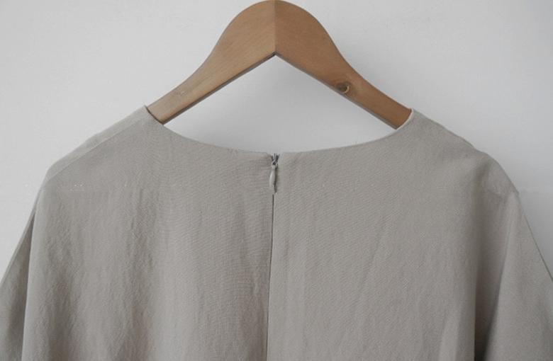 韓国 ファッション ワンピース 春 夏 カジュアル PTXJ608  ゆったり ナチュラルテイスト イレギュラーヘム オルチャン シンプル 定番 セレカジの写真19枚目