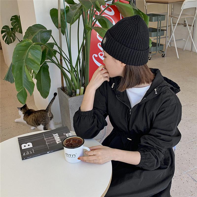 韓国 ファッション ワンピース 春 夏 秋 カジュアル PTXJ626  マウンテンパーカー風 重ね着 Aライン ミモレ オルチャン シンプル 定番 セレカジの写真6枚目
