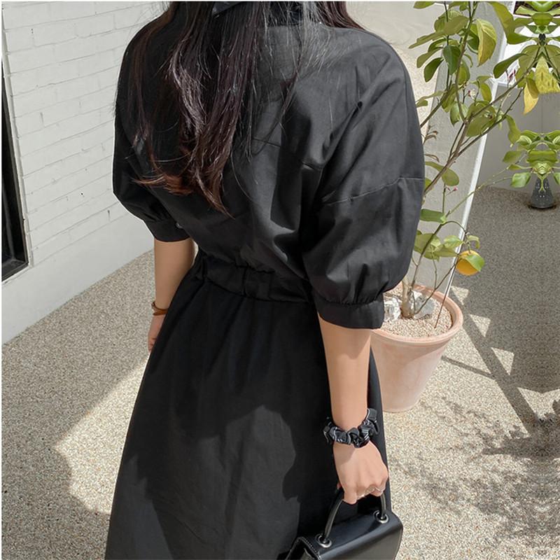韓国 ファッション ワンピース 春 夏 カジュアル PTXJ627  ナチュラルテイスト リネン風 Aライン マキシ オルチャン シンプル 定番 セレカジの写真8枚目