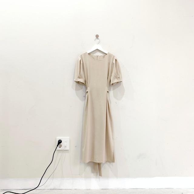 韓国 ファッション ワンピース 春 夏 カジュアル PTXJ632  ナチュラルテイストYライン パフスリーブ オルチャン シンプル 定番 セレカジの写真18枚目