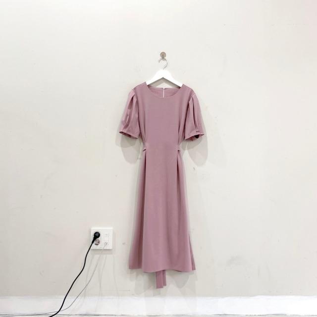 韓国 ファッション ワンピース 春 夏 カジュアル PTXJ632  ナチュラルテイストYライン パフスリーブ オルチャン シンプル 定番 セレカジの写真20枚目