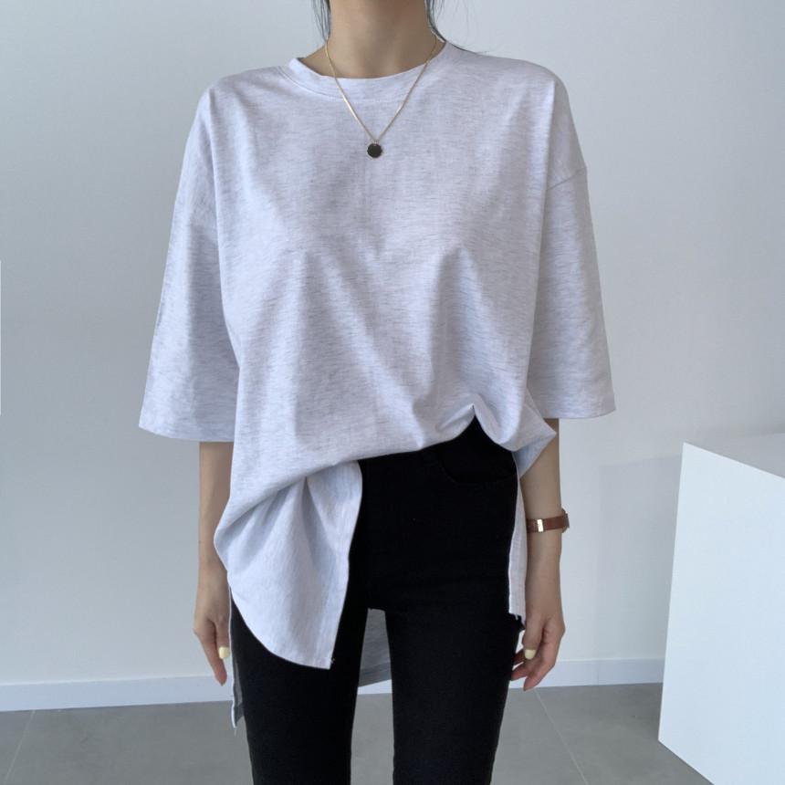 韓国 ファッション トップス Tシャツ カットソー 春 夏 カジュアル PTXJ669  シャーベットカラー オーバーサイズ Tシャツ オルチャン シンプル 定番 セレカジの写真3枚目